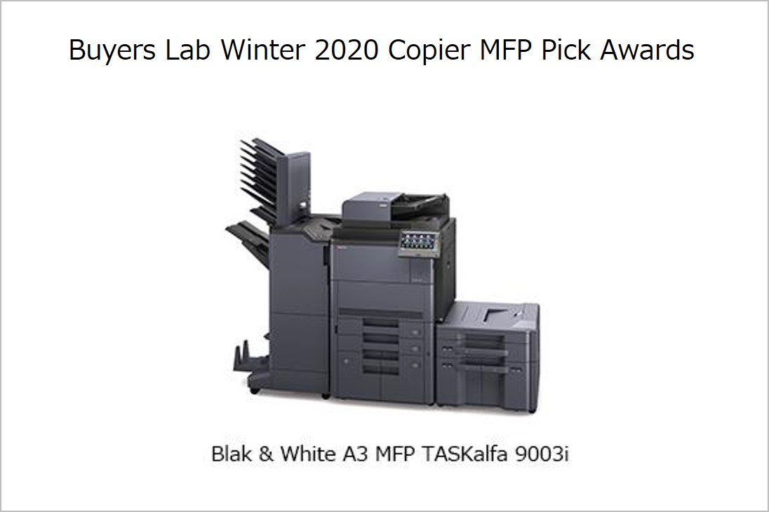 Kyocera Earns Three Keypoint Intelligence – Buyers Lab Winter 2020 Copier MFP Pick Awards