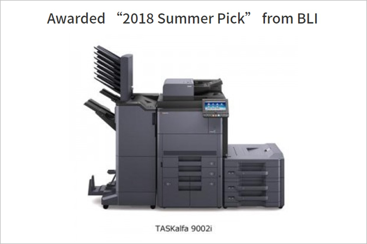 "KYOCERA TASKalfa 9002i Awarded ""2018 Summer Pick"" from BLI"