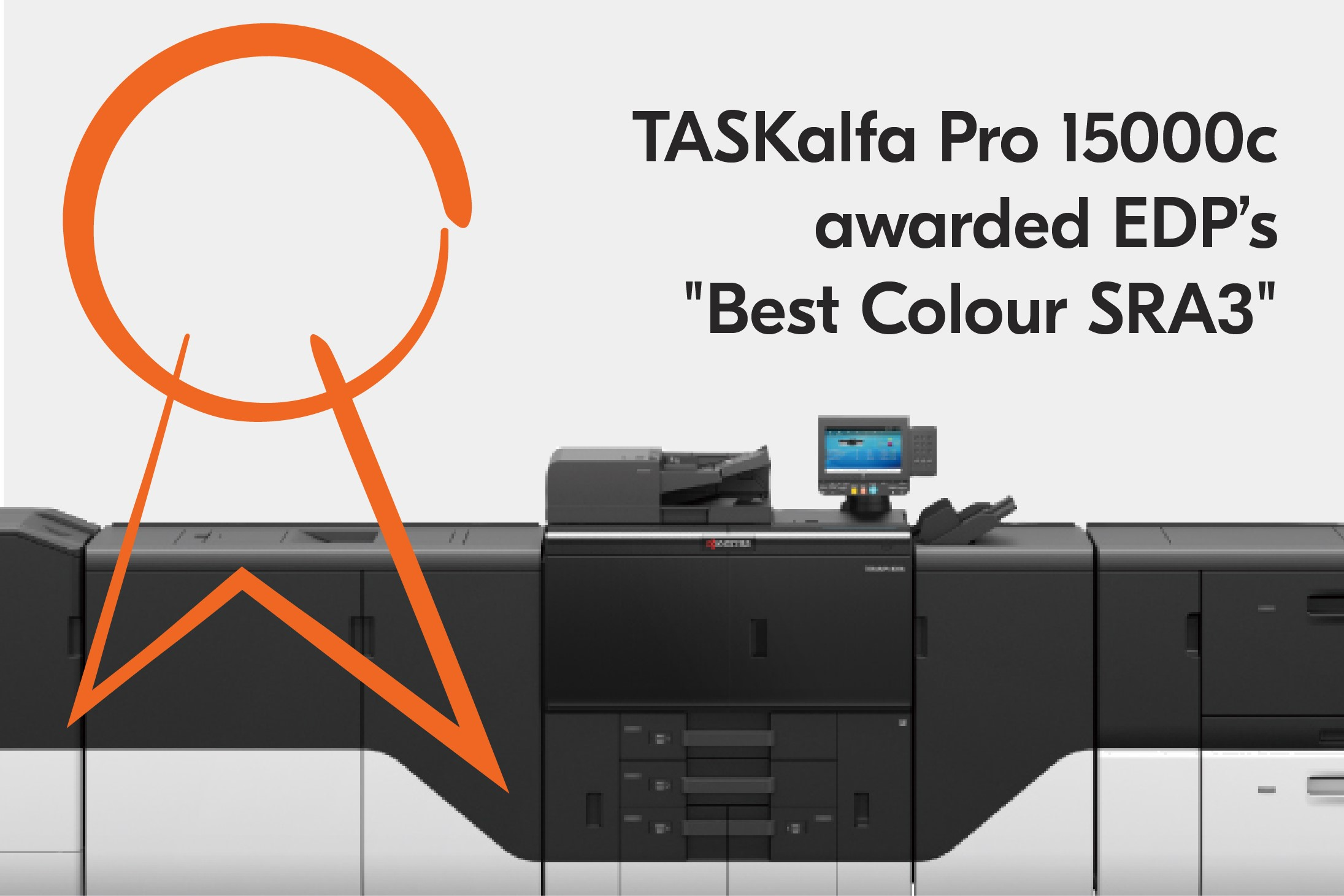 Kyocera's TASKalfa Pro 15000c wins the Best Colour SRA3 Award of the European Digital Press Association.